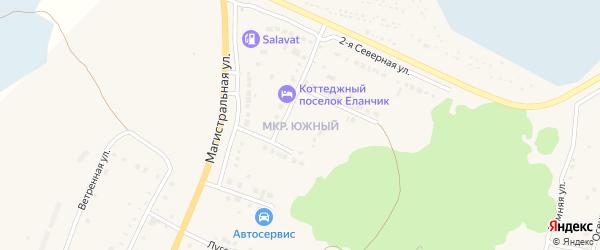 Зимняя улица на карте Южного микрорайона с номерами домов