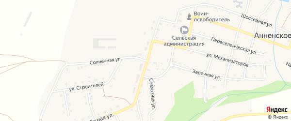 Совхозная улица на карте Анненского села с номерами домов