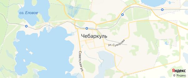 Карта Чебаркуля с районами, улицами и номерами домов