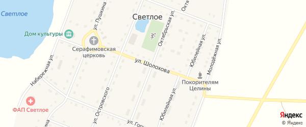 Улица Шолохова на карте Светлого села Челябинской области с номерами домов