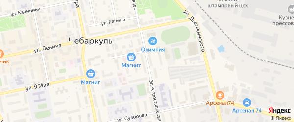 Электростальская улица на карте Чебаркуля с номерами домов