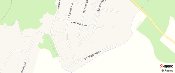 Короткий переулок на карте Южного микрорайона с номерами домов