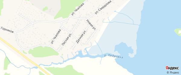 Набережная улица на карте поселка Исети с номерами домов