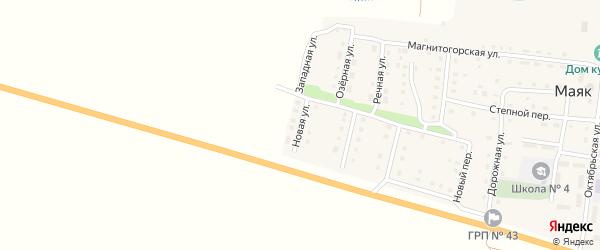 Новая улица на карте поселка Маяка с номерами домов