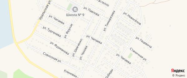 Улица Чапаева на карте Чебаркуля с номерами домов