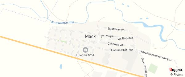 Карта поселка Маяка в Челябинской области с улицами и номерами домов