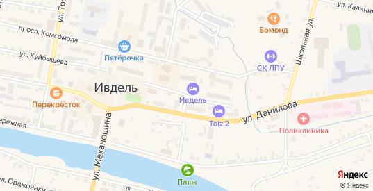 Улица Александра Ворошилова в Ивделе с номерами домов на карте. Спутник и схема онлайн