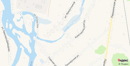 Набережная 1-я улица в Ивделе с номерами домов на карте. Спутник и схема онлайн