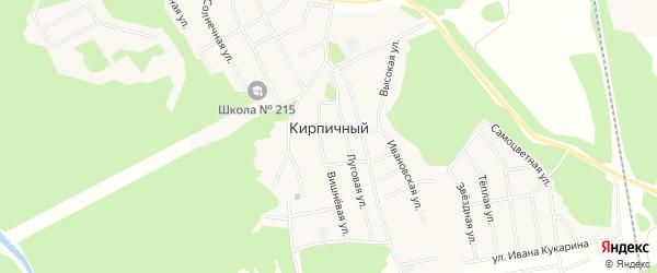 Карта Кирпичного поселка города Среднеуральска в Свердловской области с улицами и номерами домов