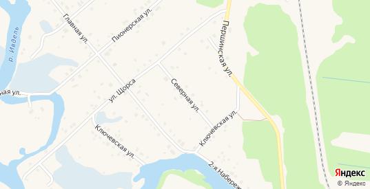Северная улица в Ивделе с номерами домов на карте. Спутник и схема онлайн
