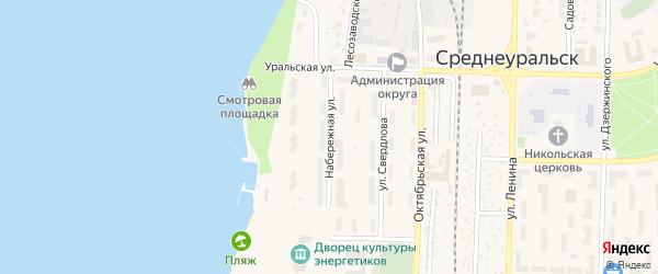 Набережная улица на карте Среднеуральска с номерами домов