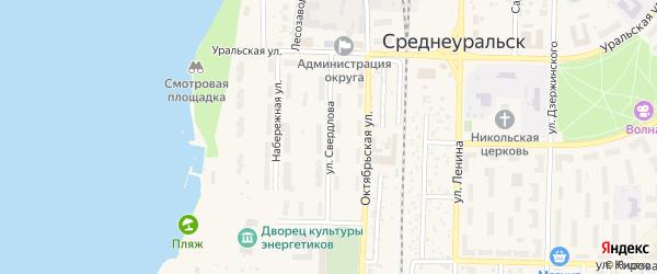 Улица Свердлова на карте Среднеуральска с номерами домов