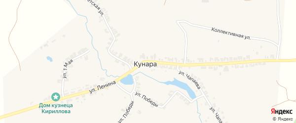Улица Ленина на карте села Кунары Свердловской области с номерами домов