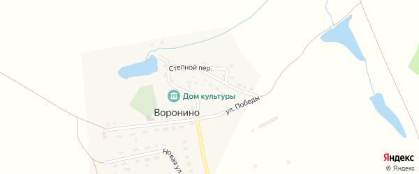 Садовый переулок на карте поселка Воронино Челябинской области с номерами домов
