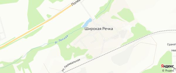 Карта поселка Широкой Речки города Екатеринбурга в Свердловской области с улицами и номерами домов