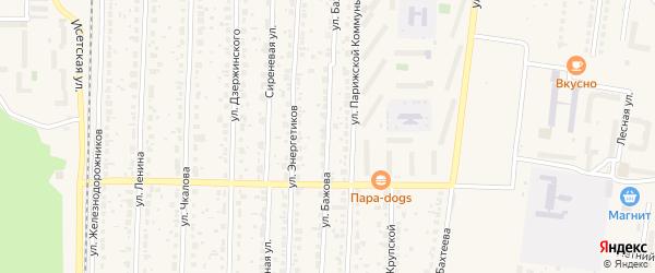 Улица Бажова на карте Среднеуральска с номерами домов