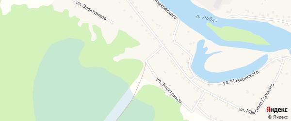 Улица Электриков на карте поселка Лобва Свердловской области с номерами домов
