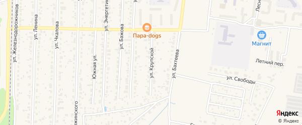 Улица Крупской на карте Среднеуральска с номерами домов