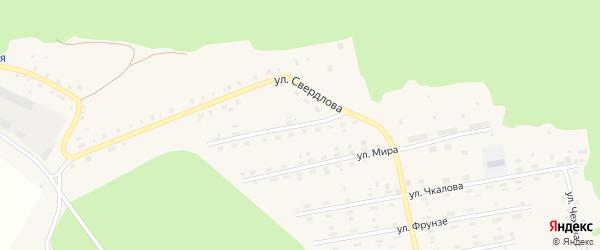 Улица Луначарского на карте поселка Лобва Свердловской области с номерами домов