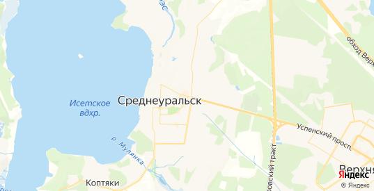 Карта Среднеуральска с улицами и домами подробная. Показать со спутника номера домов онлайн