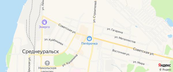 ГСК N54 на карте Среднеуральска с номерами домов