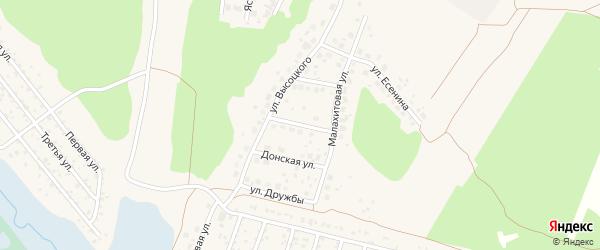 Осенняя улица на карте Среднеуральска с номерами домов