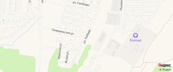 Улица Победы на карте Среднеуральска с номерами домов