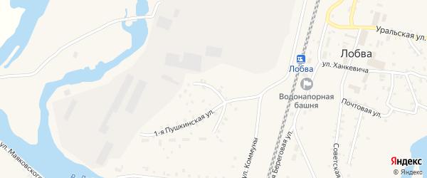 2-я Пушкинская улица на карте поселка Лобва Свердловской области с номерами домов