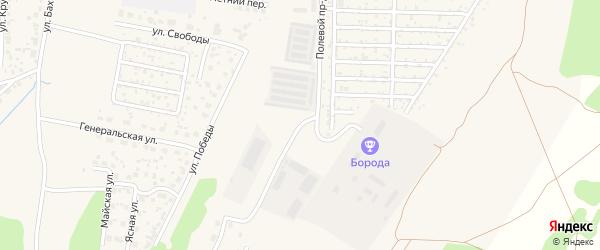 Полевой проезд на карте Среднеуральска с номерами домов