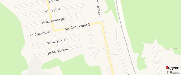 Пионерская улица на карте поселка Лобва Свердловской области с номерами домов