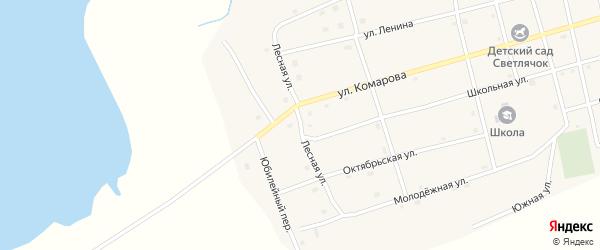 Лесной переулок на карте Черноборского поселка с номерами домов