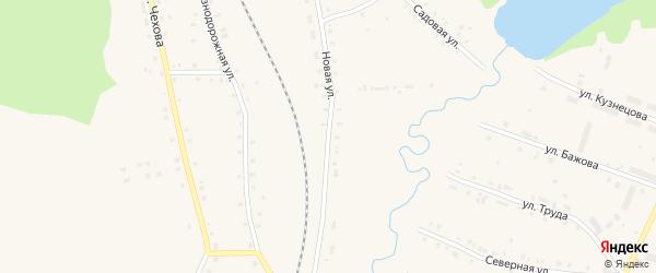 Новая улица на карте поселка Лобва Свердловской области с номерами домов