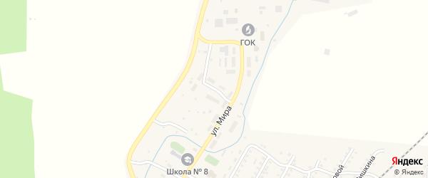 Поселковый переулок на карте поселка Тайгинки с номерами домов
