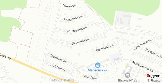 Песчаная улица в Серове с номерами домов на карте. Спутник и схема онлайн