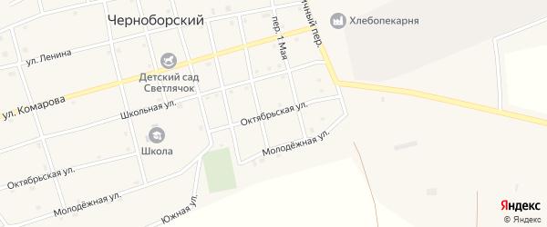 Октябрьская улица на карте Черноборского поселка с номерами домов