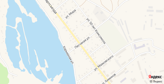 Песчаная улица в Ивделе с номерами домов на карте. Спутник и схема онлайн