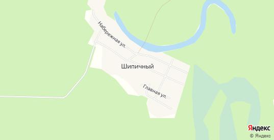 Карта поселка Шипичный в Ивделе с улицами, домами и почтовыми отделениями со спутника онлайн