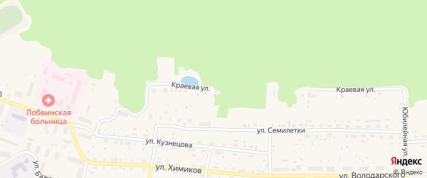 Краевая улица на карте поселка Лобва Свердловской области с номерами домов
