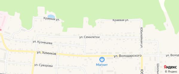 Улица Семилетки на карте поселка Лобва Свердловской области с номерами домов