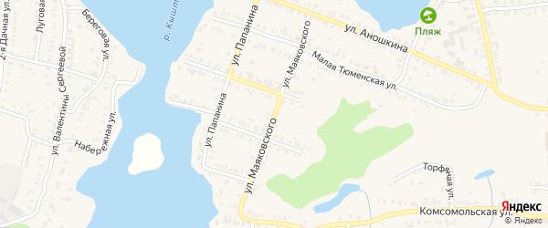 Улица Маяковского на карте Кыштыма с номерами домов