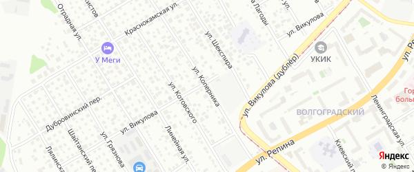 Улица Коперника на карте Екатеринбурга с номерами домов