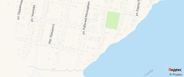 Переулок Питомника на карте Верхней Салды с номерами домов