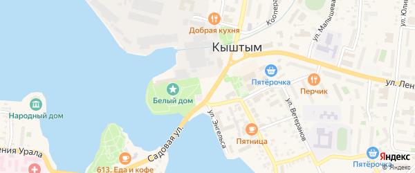 Площадь Карла Маркса на карте Кыштыма с номерами домов