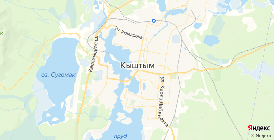 Карта Кыштыма с улицами и домами подробная. Показать со спутника номера домов онлайн