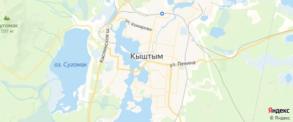 Карта Кыштыма с районами, улицами и номерами домов