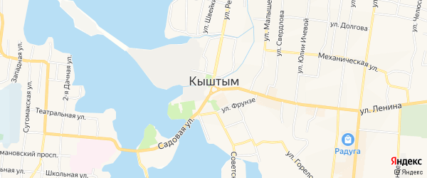 Территория СНТ Лесовод на карте Кыштыма с номерами домов