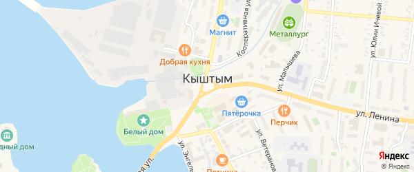 Улица Коноплянка на карте Кыштыма с номерами домов