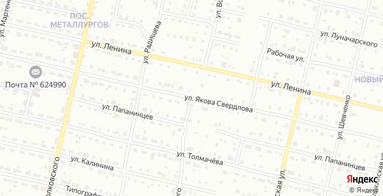 Улица Володарского в Серове с номерами домов на карте. Спутник и схема онлайн