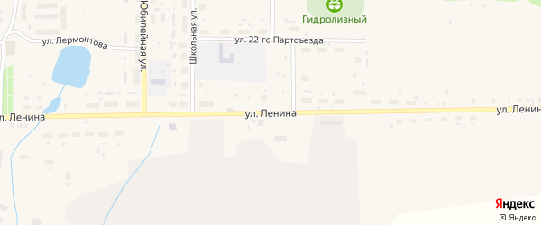 Улица Ленина на карте поселка Лобва Свердловской области с номерами домов