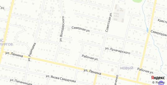 Улица Гончарова в Серове с номерами домов на карте. Спутник и схема онлайн